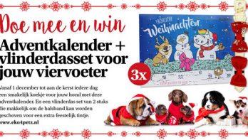 Win een adventkalender +vlinderdasset voor je hond