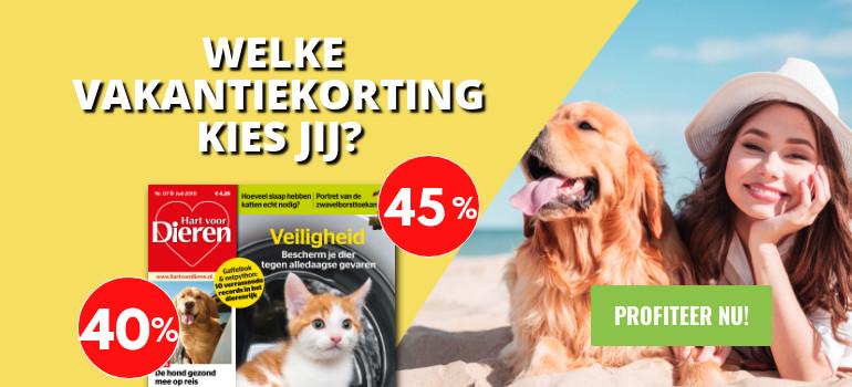 Hart voor Dieren abonnement korting vakantie