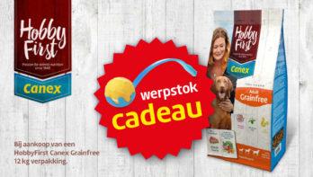 HobbyFirst Canex Adult Grainfree: tijdelijk met gratis werpstok