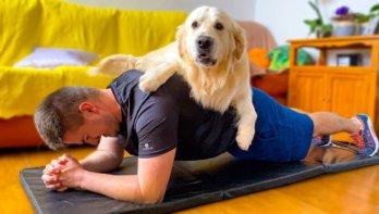 Thuisfitness met hond