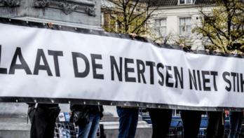 Demonstratie voor de vervroegde sluiting van alle nertsenfokkerijen